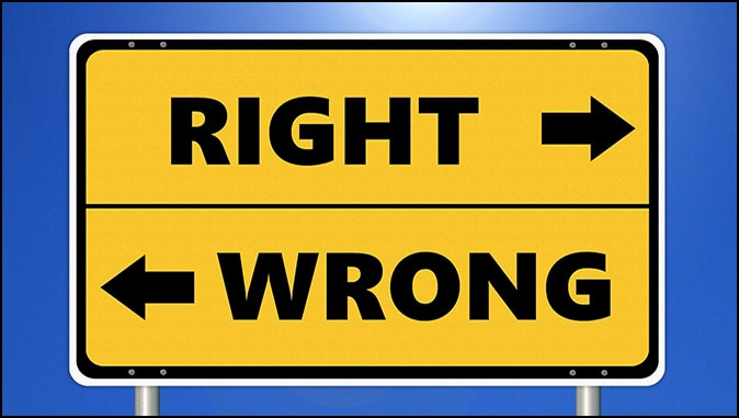 Choosing The Right Or Wrong Path