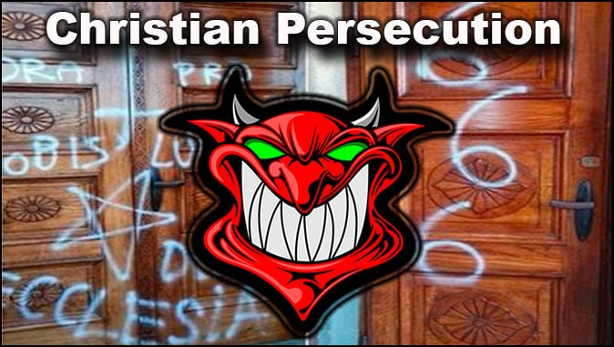 The Rapture Report – Europe: Vandals Desecrate Christian Church With Satanic Symbols